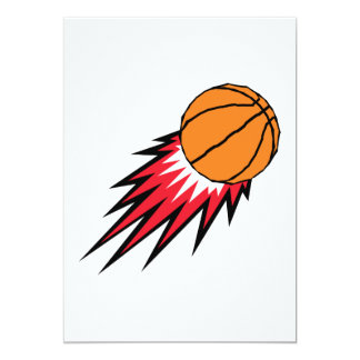 basketball with spikes design card