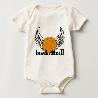Basketball with Wings Baby Bodysuit