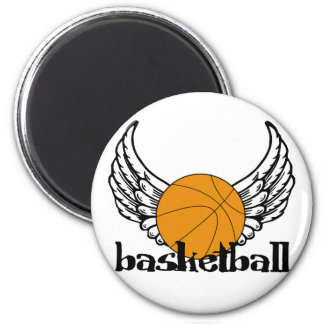 Basketball with Wings Magnet