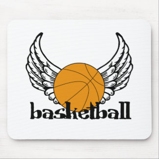 Basketball with Wings Mouse Pad