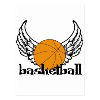 Basketball with Wings Postcard