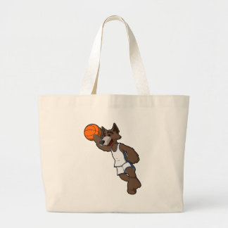 Basketball Wolf Canvas Bags