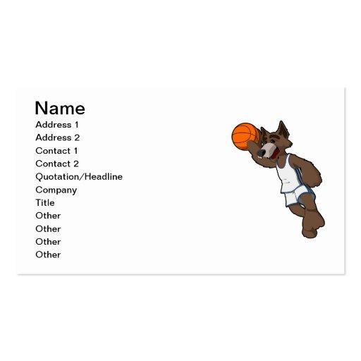 Basketball Wolf Business Card Templates