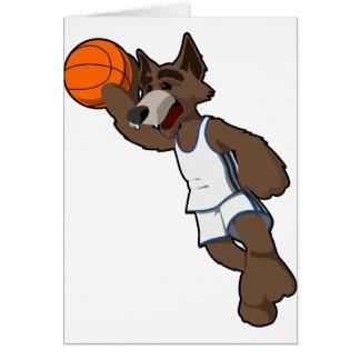 Basketball Wolf Card