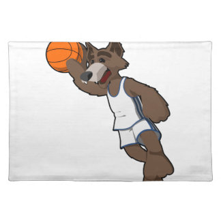 Basketball Wolf Cloth Placemat