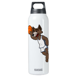 Basketball Wolf Insulated Water Bottle