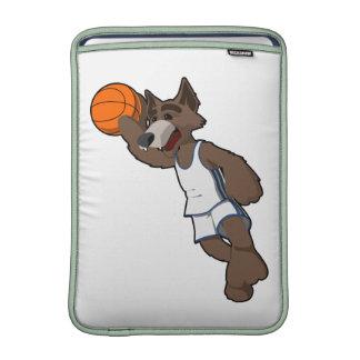 Basketball Wolf MacBook Sleeves