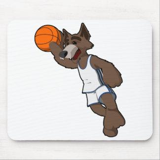Basketball Wolf Mouse Pad