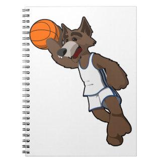 Basketball Wolf Notebooks