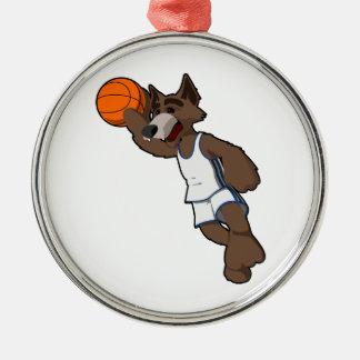 Basketball Wolf Christmas Ornaments