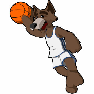 Basketball Wolf Photo Statuette