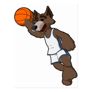 Basketball Wolf Post Card