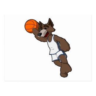 Basketball Wolf Postcard
