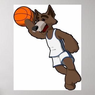 Basketball Wolf Poster