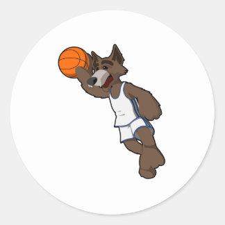 Basketball Wolf Stickers