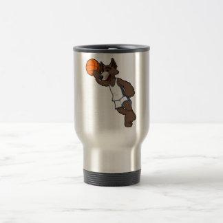 Basketball Wolf Travel Mug