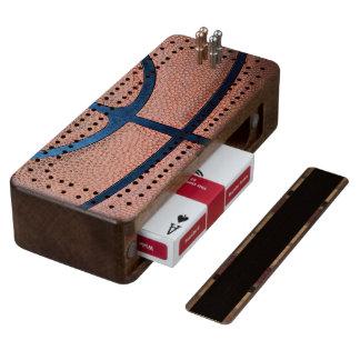 Basketball Wood Cribbage Board