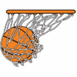 """basketball woosh ball in net vector illustration cutout<br><div class=""""desc"""">Great sport design for any fan,  player or teammate.  Click customize it to add a name or catchy phrase or change the background color on select products.  Show your sporty side and team pride.</div>"""
