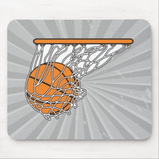 basketball woosh ball in net vector illustration mouse pad