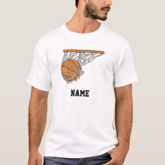 basketball woosh ball in net vector illustration T-Shirt