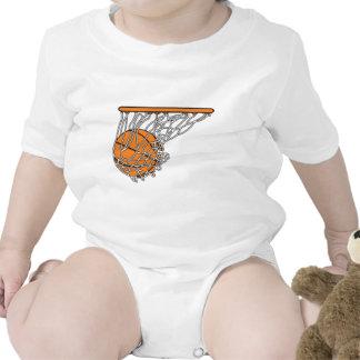 basketball woosh ball in net vector illustration bodysuits