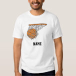 basketball woosh ball in net vector illustration tshirt