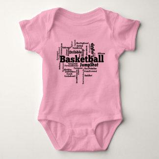 Basketball Word Cloud Baby Bodysuit