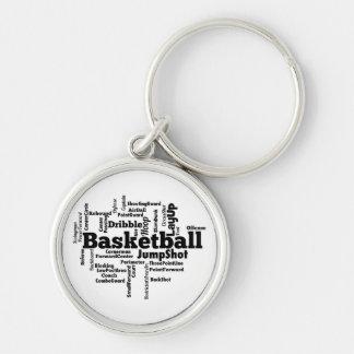 Basketball Word Cloud Key Chains