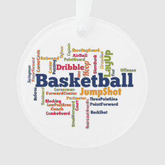 Basketball Word Cloud Ornament
