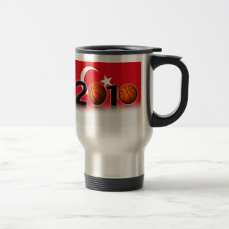 Basketball world cup 2010 15 oz stainless steel travel mug
