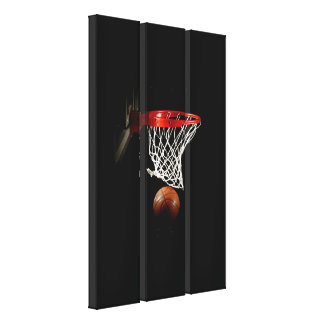 Basketball Wrapped Canvas - 3 Canvases Set