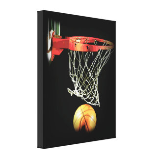 Basketball Wrapped Canvas Canvas Print