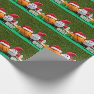 Basketball Wrapping paper with Santa Claus