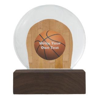 Basketball - Write Your Own Text Snow Globe