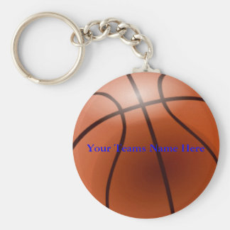Basketball, Your Teams Name Here Keychain