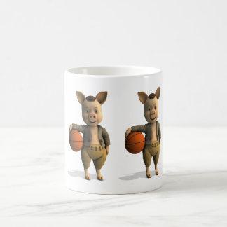 Basketballer Piglet Coffee Mugs