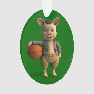 Basketballer Piglet Ornament