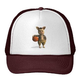 Basketballer Piglet Trucker Hat