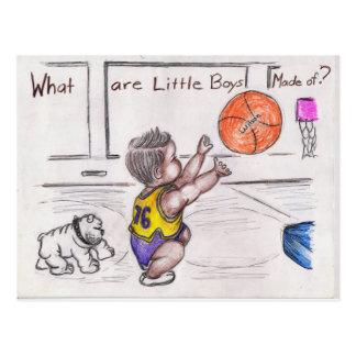 Basketballer Postcard