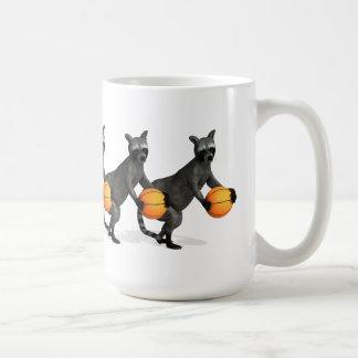 Basketballer Raccoon Coffee Mugs