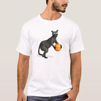 Basketballer Raccoon T-Shirt