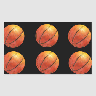 Basketballl Pegatina Rectangular