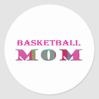 BasketballMom Classic Round Sticker