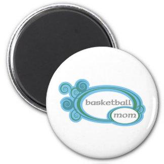 basketballmomwithswirlcircles. 2 inch round magnet