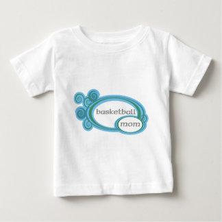 basketballmomwithswirlcircles. t shirt