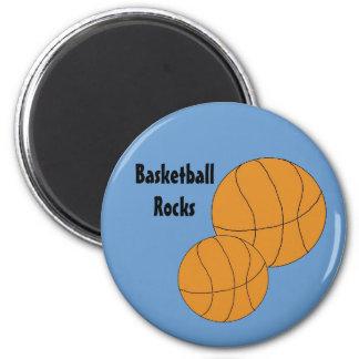 Basketballs 2 Inch Round Magnet