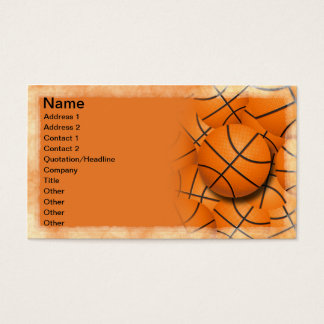 Basketballs Collage Business Card