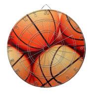 Basketballs Dart Board
