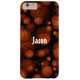 Basketballs everywhere pattern name orange black barely there iPhone 6 plus case
