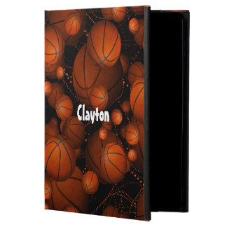 Basketballs everywhere pattern name orange black powis iPad air 2 case